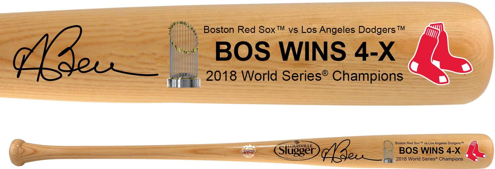 Andrew Benintendi Boston Red Sox 2018 MLB World Series Champions Autographed Louisville Slugger Blonde Logo Bat Fanatics Authentic Certified