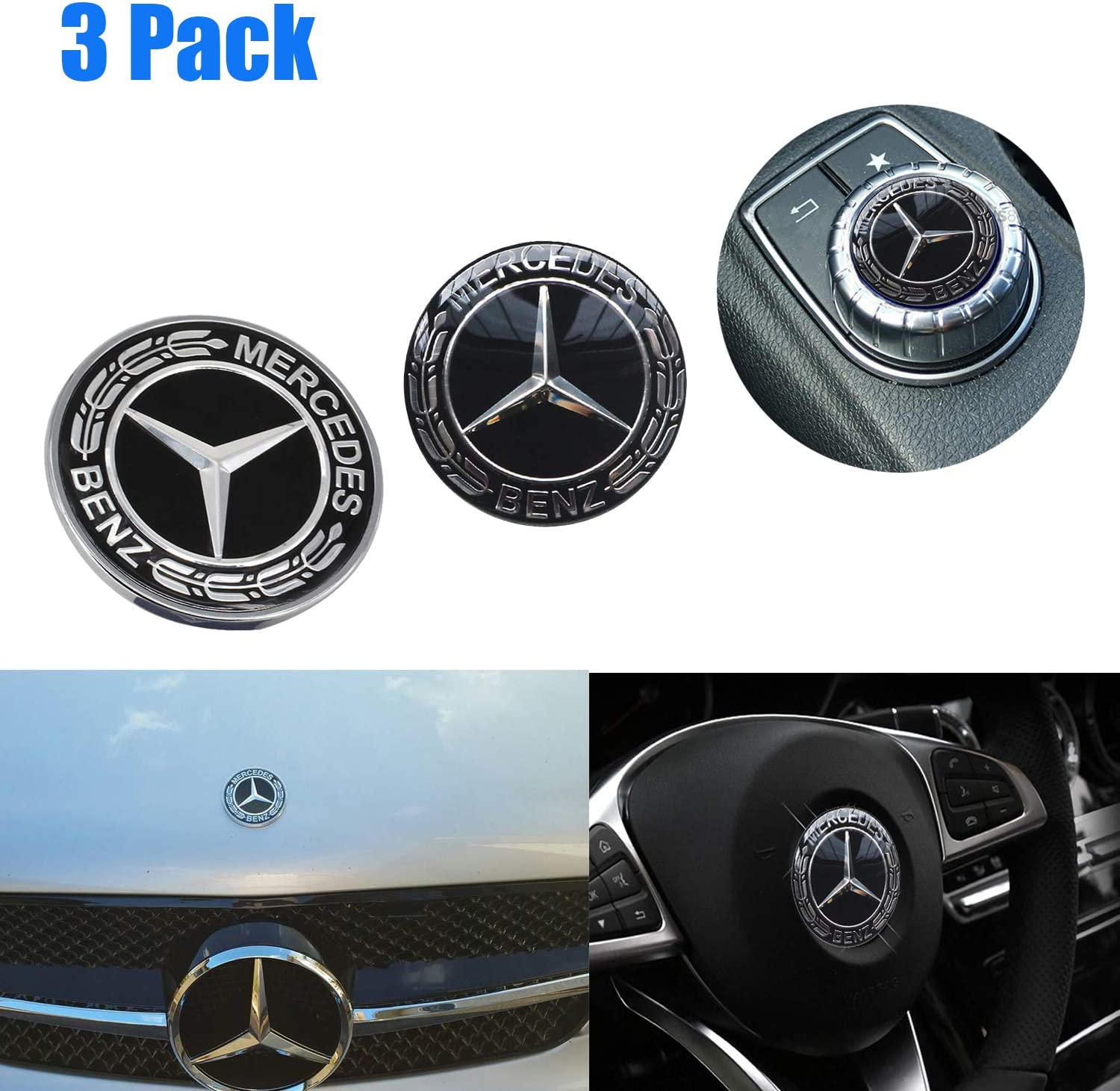 Car Bonnet Car Ornament Badge Auto Sticker Front Cover Logo Exterior Decoration