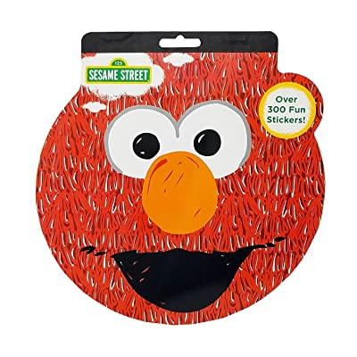 Sesame Street Shaped Sticker Book, Over 300 Stickers, 4 Sheets, Elmo: Toys & Games