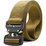 Fairwin Tactical Belt, Military Style Webbing Riggers Web Belt Heavy-Duty Quick-Release Metal Buckle Belt for Men
