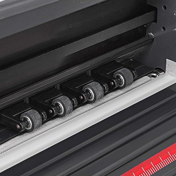 Guellin Plóter de Corte 1340mm Cortador de Vinilo Máquina de Plotter Plóter con Escáner Signmaster Software Máquina para Hacer Signo Cutter Plotter con el Soporte (1340mm): Amazon.es: Electrónica