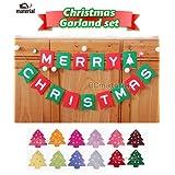 【BC material】かわいい クリスマス ツリー オーナメント ガーランド パーティ ミニツリーガーランド付き。 フラッグ