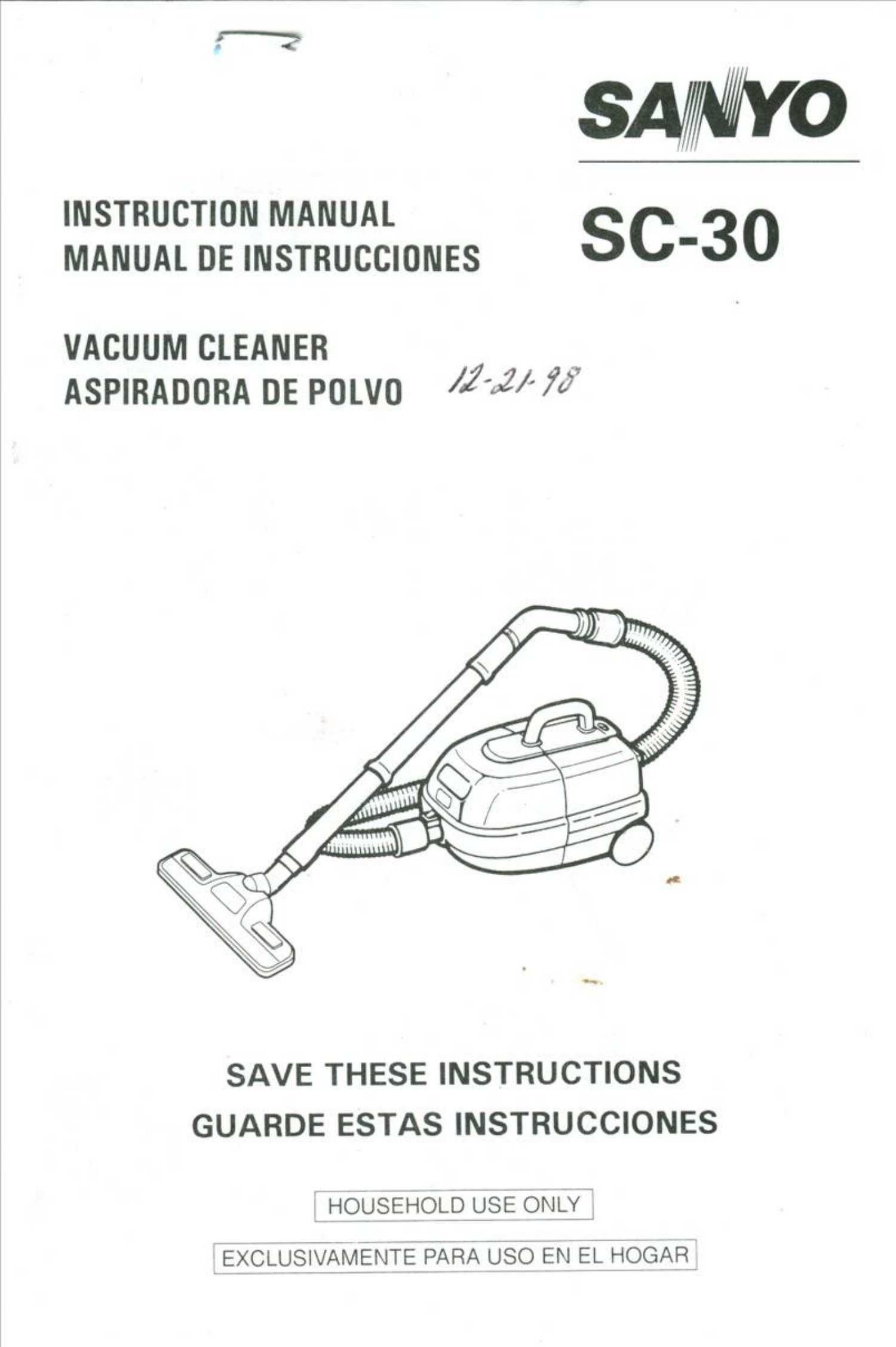 Sanyo SC-30 Instruction Manual - Part # 9BF-6P111-22100: Sanyo: Amazon.com:  Books