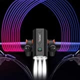 2021 Newest 4000 Lumens USB Rechargeable Bike Lights Front and Back,Super Bright LED Bicycle Headlight-9 Light Modes Runtime