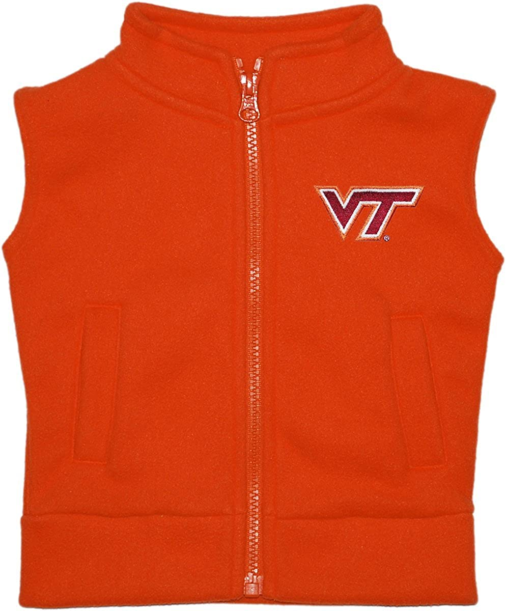 Virginia Tech Cavaliers Newborn Infant Baby Polar Fleece Vest
