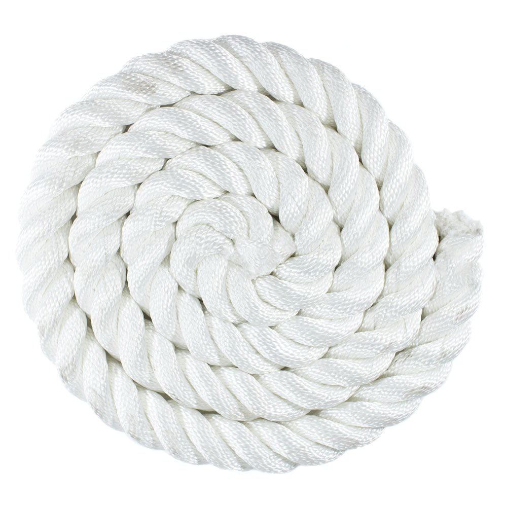 """1//2 25/' 3//4 Choose from 1//4 3//8/"""" 2/"""" Diameter 1/"""" Available in Lengths of 10/' 5//8/"""" 600/' 5//16/"""" 100/' GOLBERG Premium USA Made Twisted Nylon Rope 1.25/"""" 50/' 1.5/"""""""