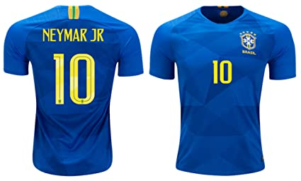8a6d653a7 whhyl Brazil Neymar Jr  10 Soccer Jersey Away Men s World Cup Adult Sizes ✓  Bonus