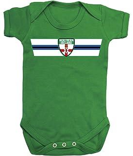 14953b707cd Northern Ireland Retro Strip T-Shirt  Choice of Mens Ladies Kids Baby Grow
