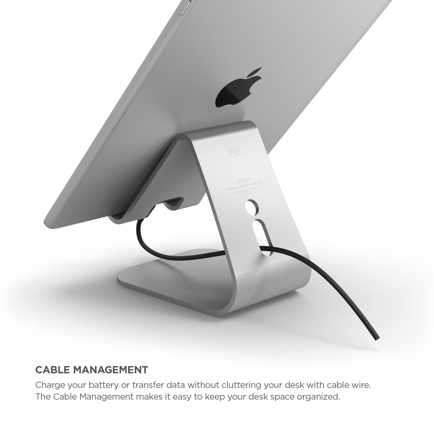 Elago P2 Stand for iPad and Tablet PC - Silver by elago (Image #4)