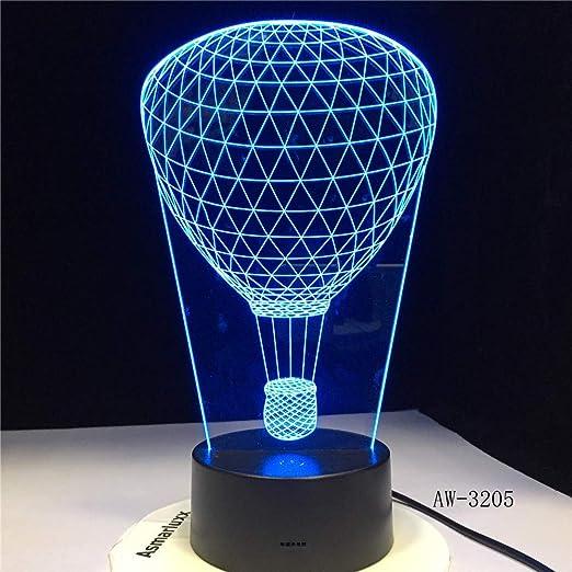 wangzj 3d lámpara de escritorio de mesa de luz nocturna / 7 ...