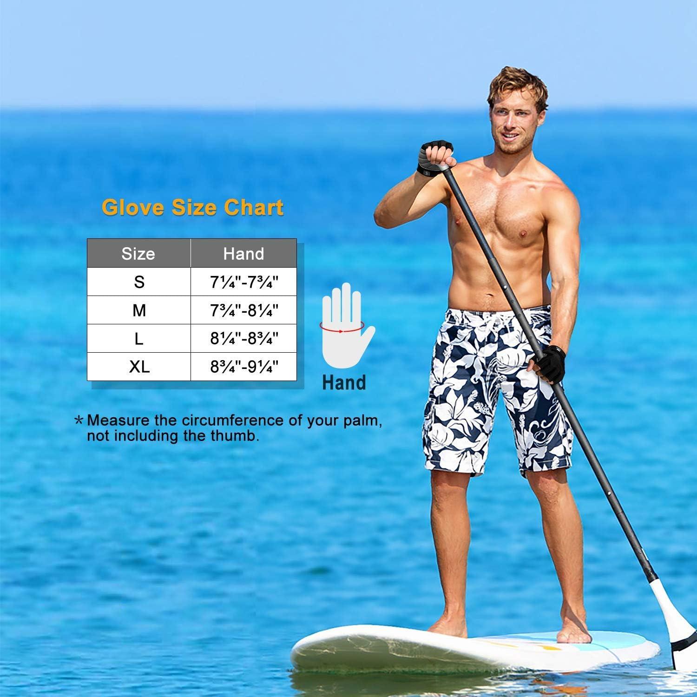 FitsT4 Gants de surf unisexes 3//4 doigts pour ski nautique kiteboard cano/ë combinaison de plong/ée jet ski et stand up paddle avec poignet r/églable voile planche /à voile