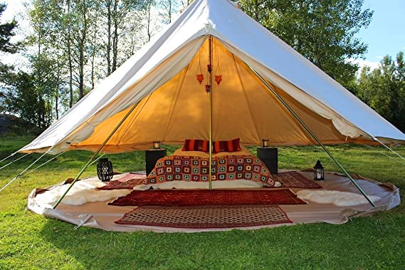 Cozy House Family Camping Cotton Canvas Bell Tent Bell tent
