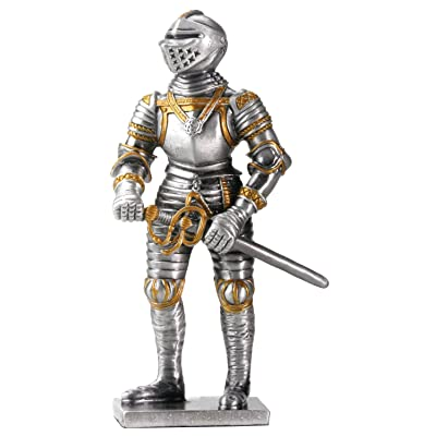 YTC Pewter English Knight Statue Figurine Decoration: Home & Kitchen
