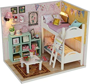 WADILE Dollhouses Wooden DIY Toys Kits Model Handmade Creative Gift Furniture Realistic and Suitable for Children Over 14 Years Old Or with The Help of Adults (5.75in4.13in4in, M020)