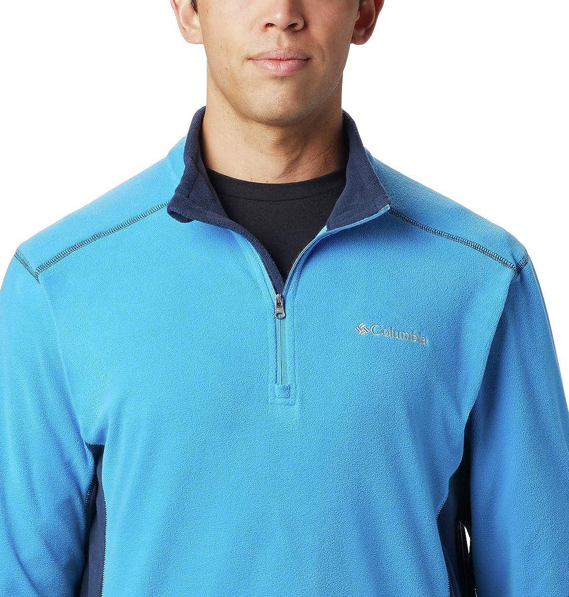 Columbia Klamath Range II Half Zip Pullover Uomo Azure Blue, Collegiate Navy