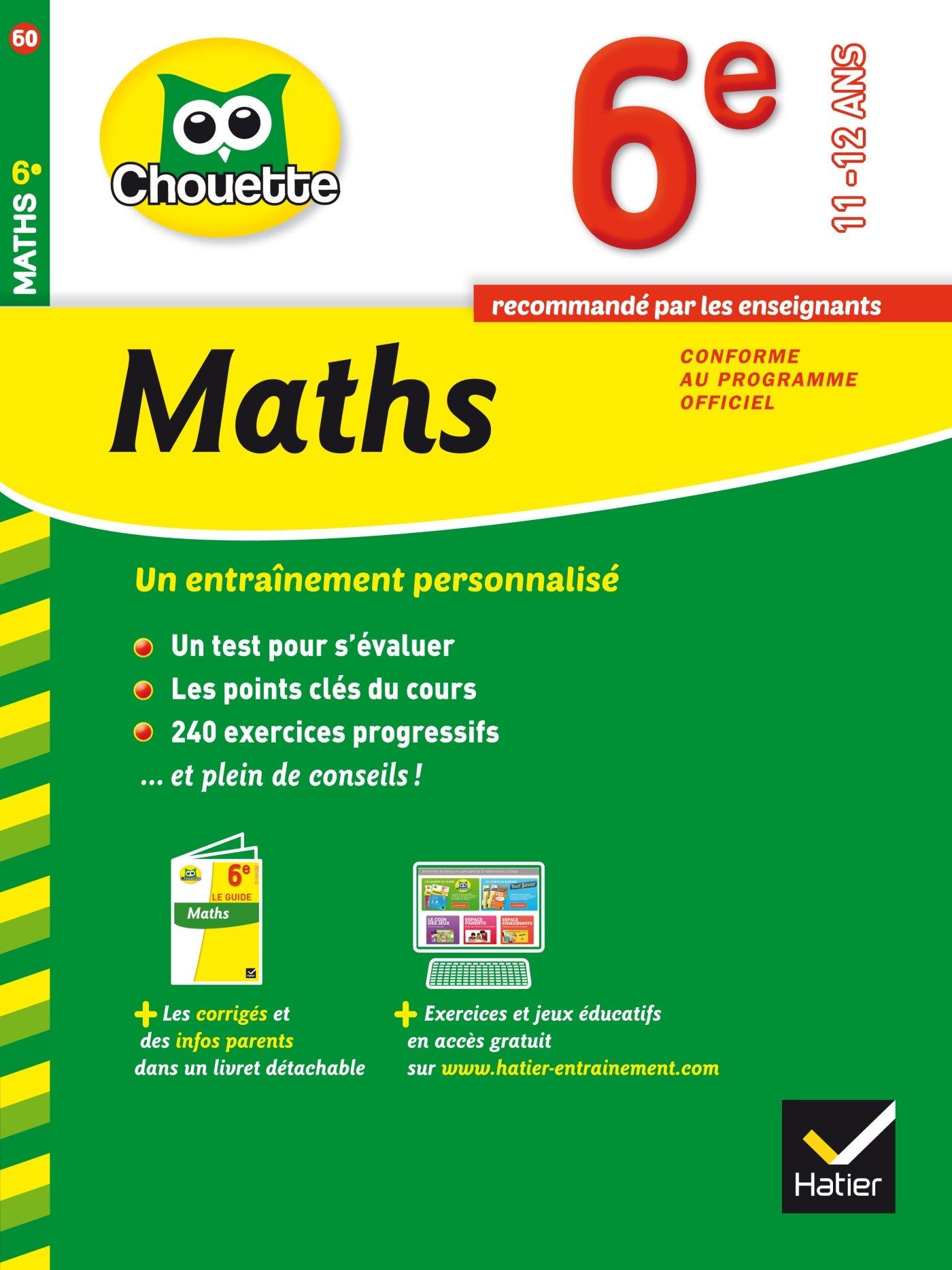 Amazon Fr Maths 6e Cahier De Revision Et D Entrainement Bonnefond Gerard Daviaud Daniel Revranche Bernard Livres