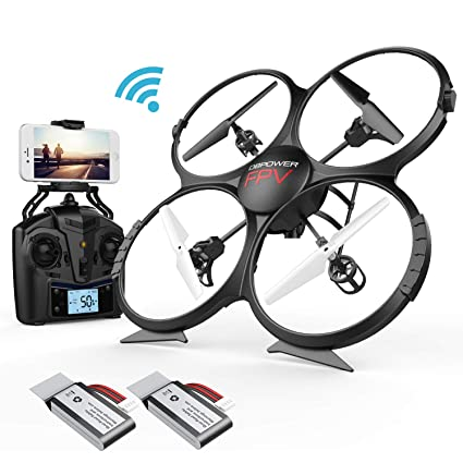 fd017144220 Drone DBPOWER U818A Discovery FPV WiFi Drones with Camera for  Beginners/Kids/Teens,