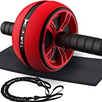 Bssay Ab Roller for Abs Workout, Home Abdominal Exercise Equipment Core Workout Machine Wider Ab Roller Wheel with Resistant Band