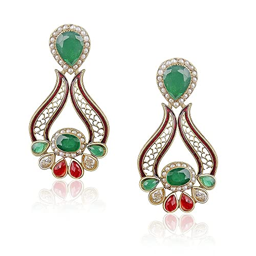 VK Jewels Magestic Dangle & Drop Earring for Women set -ERZ1043G Earrings at amazon