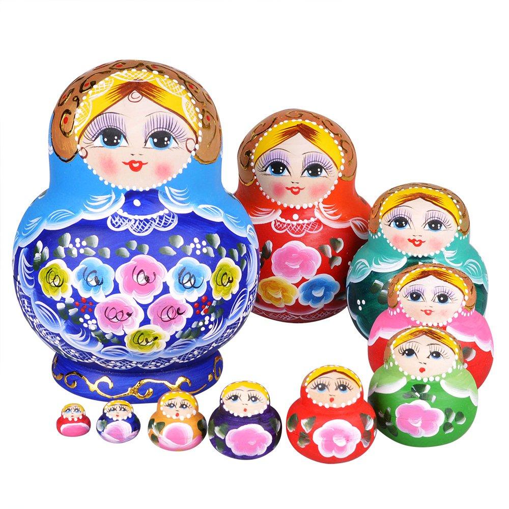YAKELUS専業マトリョーシカ人形 ブランド10層手作り プレゼント おもちゃ1084 B01LZB00PQ