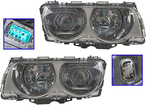 Fits 1999-01 Acura TL Headlights Headlamps Left Driver Only