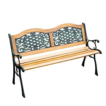 Outsunny Outdoor Patio Garden Park Bench Love Seat, 50u0026quot;