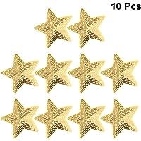 Artibetter 10 unids Parches Bordados Cinco Estrellas en