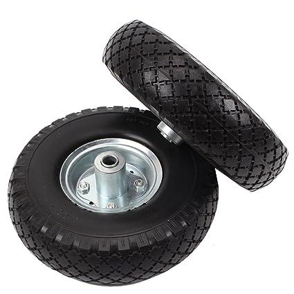 2 ruedas de PU macizas para carretilla, a salvo de averías, 260