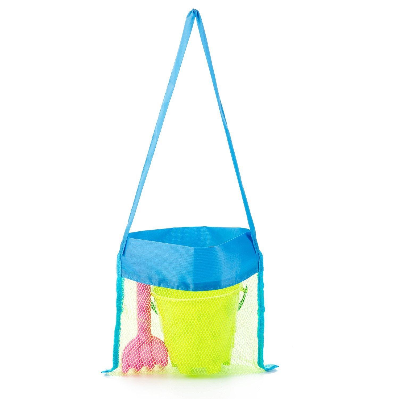 MODARANI Kid's Small Mesh Beach Bag Water Toy Tote Bag Crossbody Travel Bag for Boys Girls by MODARANI (Image #1)
