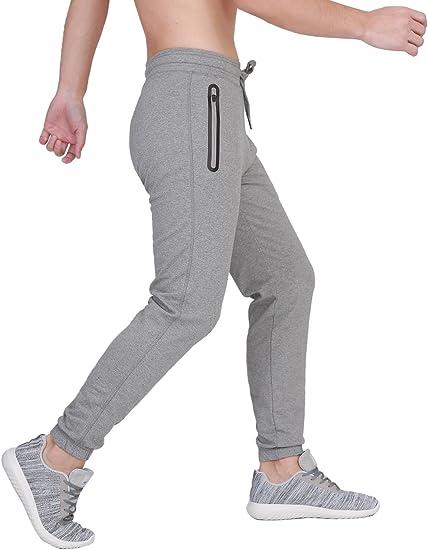 Fubotevic Men Drawstring Relaxed Fit Multi-Pockets Athletic Cargo Jogger Pants