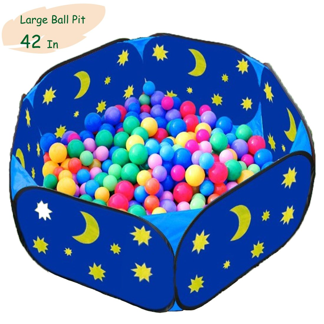 Eggsnow Kids Ball Pit Toddler Ball Pit Large Blue Baby Play Pit with Zippered Storage Bag Ideal for Toddlers Pets Indoor Outdoor Play Balls Not Included(42 Inch) Topbestsource FBA-WZ-Ballpit-XY