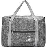 Irich - Bolsa plegable de viaje, ajustable S gris claro