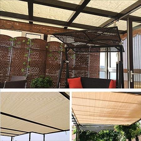 ZCG - Red de protección UV para proteger el sol, protección UV, polietileno, balcón, jardín, flor, planta, granero de invernadero, balcón, sedán, techo, terraza al aire libre, polietileno, beige, 5x6M: Amazon.es: Hogar
