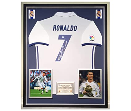 sports shoes 98165 7677a Premium Framed Cristiano Ronaldo Autographed/Signed Real ...