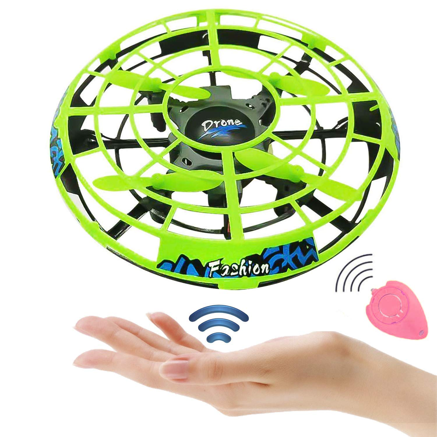 Flying Ball RC Mini Drone Flying Toys Birthday Gifts for Kids Boys Girls Airplane UFO Shape Outdoor Play Toys Remote Control Interactive Infrared Induction Helicopter Flying Saucer Toys 360° Rotating by TURNMEON    (Image #1)