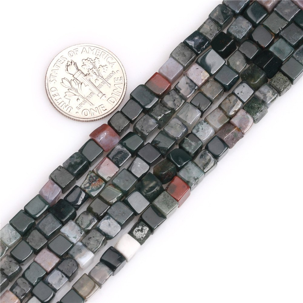 SHGbeads Black Agate Gemstone Loose Beads Natural Square Cube 4mm Crystal Energy Stone Healing Power for Jewellery Making 15'' Sweet & Happy Girl' s Gemstone Beads Strand