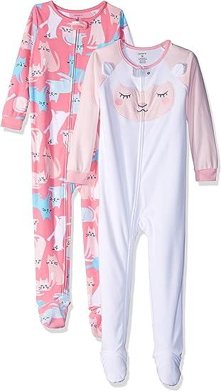 Pack de 3 Simple Joys by Carters 3-Pack Loose Fit Flame Resistant Fleece Footless Pajamas Ni/ñas