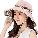 Gemini mall® Womens Sun Hat Summer Reversible UPF 50+ Beach Hat Foldable  Wide Brim Cap 718f7b4d88c8