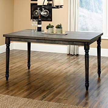 Amazoncom Weathered Dining Table In Vintage Gray Finish Tables - Weathered dining table