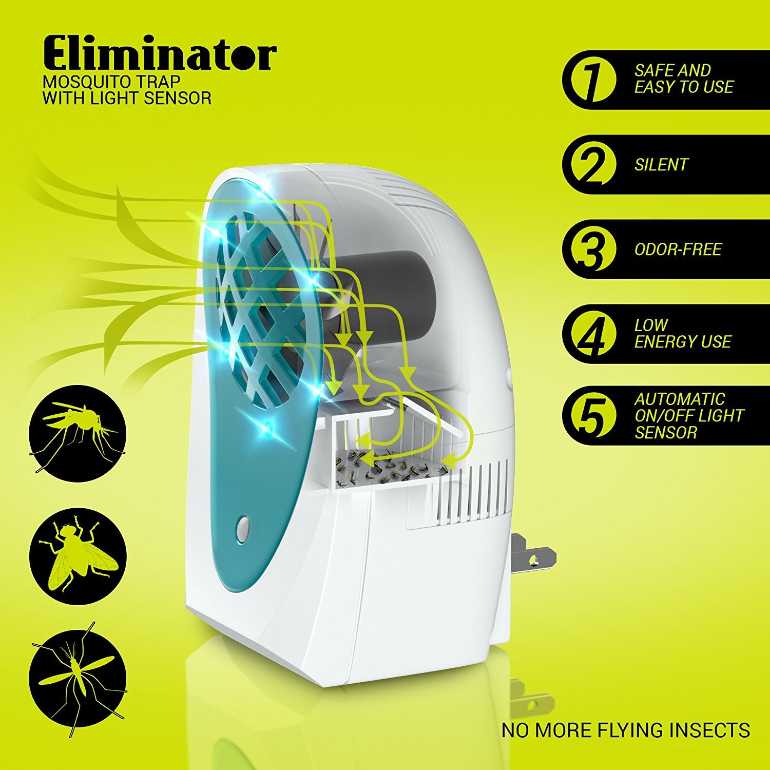 Eliminator Indoor Plug-in Mosquito and Fly Trap by Eliminator (Image #2)