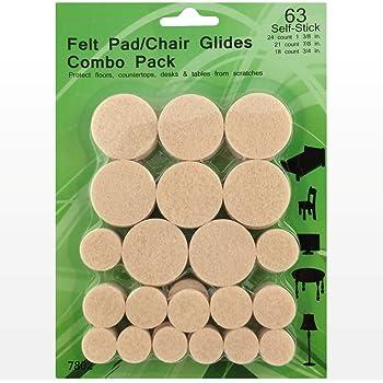 Felt Pads 38 Pack Various Sizes Self Stick Heavy Duty