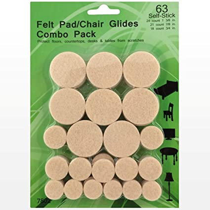 Best Felt Pads   63 Pack Chair Felt Pads   Self Stick Furniture Glides    Chair