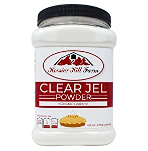 Hoosier Hill Farm Clear Jel Thickener (cook type) NON-GMO large bulk 2 3/4 lb.Jar