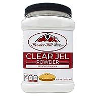 Hoosier Hill Farm Clear Jel Thickener (cook type) NON-GMO large bulk 2 3/4 lb.Jar
