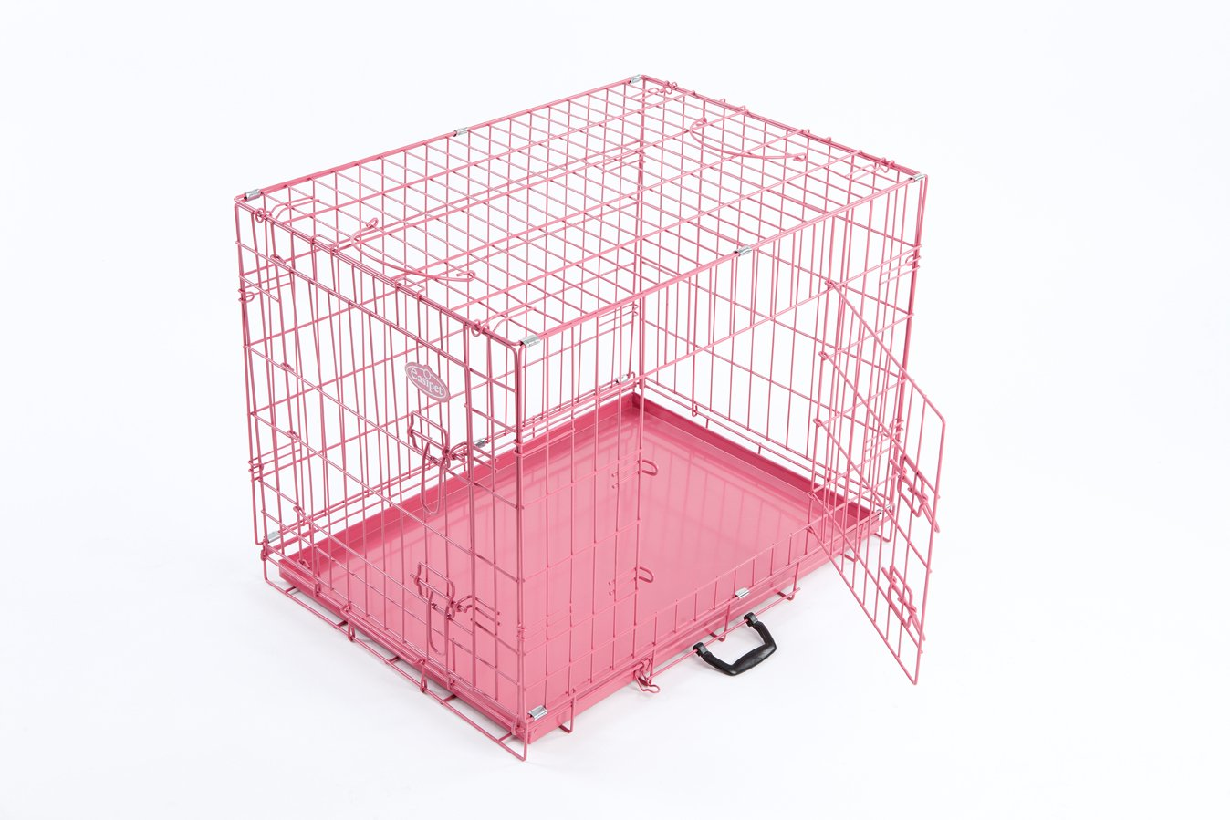pink dog or puppy metal training cage crate xl (pink  cage  - pink dog or puppy metal training cage crate xl (pink  cage)amazoncouk pet supplies