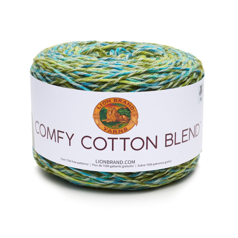 Amazon.com: Lion Brand Yarn 756-706 Comfy Cotton Blend Yarn, Spring ...