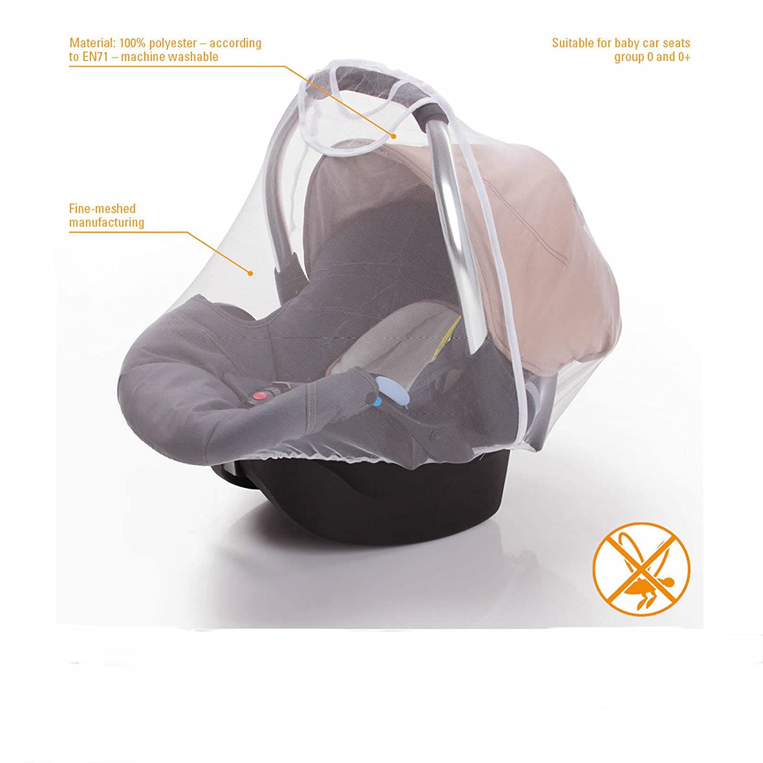 Diago Uk Exclusive Universal Mosquito/Insect Net for Car seat
