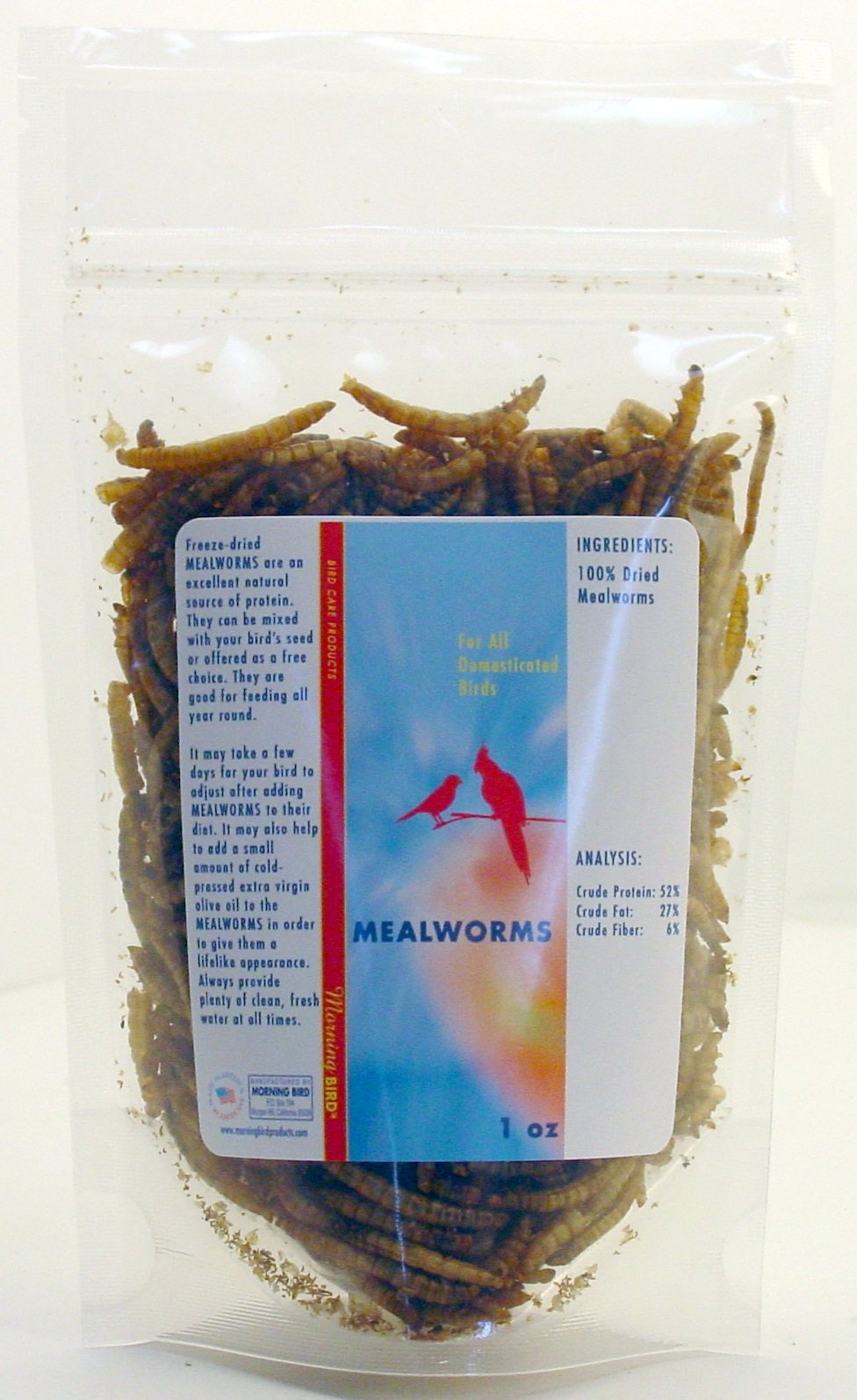 Morning Bird Mealworms (1 oz)