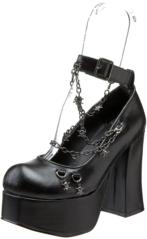 Demonia Charade-28 - - - Gothic Punk Industrial Plateau Schuhe 36-43 Schwarz ce0e32
