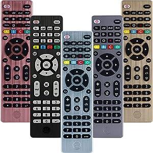 GE Universal Remote Control for Samsung, Vizio, LG, Sony, Sharp, Roku, Apple TV, RCA, Panasonic, Smart TVs, Streaming Players, Blu-ray, DVD, 4-Device, Silver, 33709